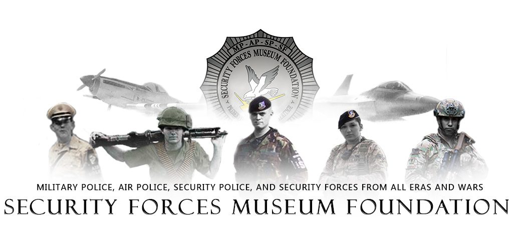 Compiled Image of USAF Security Forces Personnel in historical uniforms.