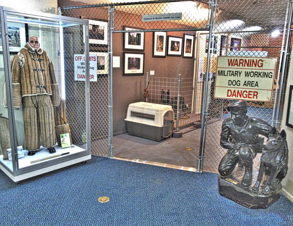 Military Working Dog display